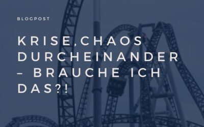 Krise,Chaos,Durcheinander – brauche ich das?!